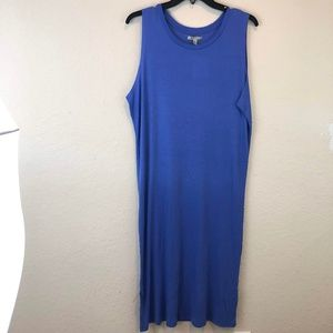 NWT Zara Blue Sundress Medium Sleeveless Long Knit